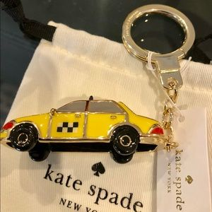 NWT Iconic Kate Spade Yellow Taxi Keychain